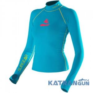 Жіноча лайкрова футболка для плавання з УФ захистом SubGear Paraiso