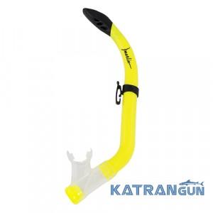 Трубка для плавания детская Marlin Junior; желтая