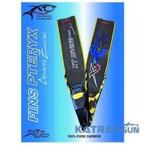 Ласты из прочного карбона Xt Diving pro Pteryx Competition Andrea Zuccari