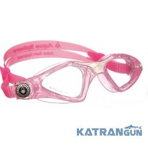 Детские очки в бассейн Aqua Sphere Kayenne Junior; розовые, линзы прозрачные