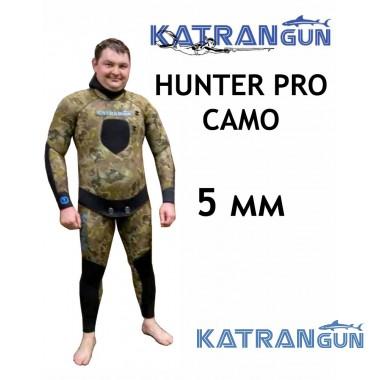 Гидрокостюм для весны и лета KatranGun Hunter Pro Camo 5 мм