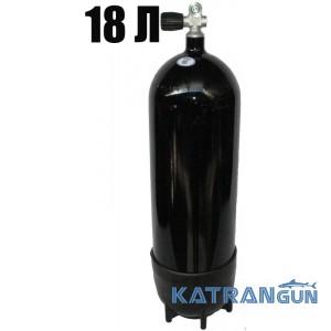 Дайверський балон Seac Sub, 18 л, 232 Bar, чорний