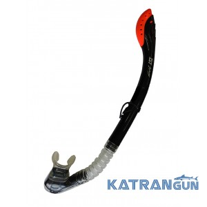 Сухая трубка для снорклинга IST SN203 Dry Top Snorkel, черная