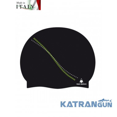 Шапочка для бассейна киев  Aqua Sphere Dakota, black/green