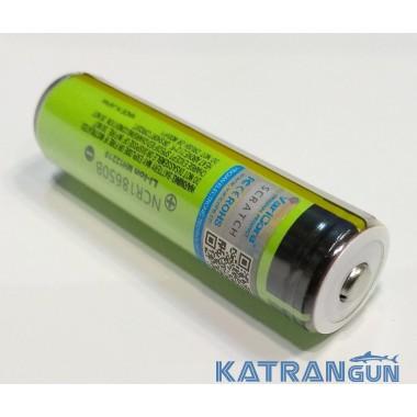 Аккумулятор для подводного фонаря 18650 Panasonic, 3400 mA/h, с платой защиты