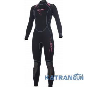 Женский гидрокостюм Bare Sport Full Lady 3/2mm pink