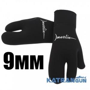 Зимние трехпалые перчатки Marlin Open Cell, 9 мм