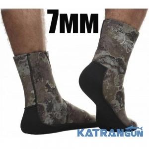 Неопреновие шкарпетки для підводного полювання Marlin Anatomic Duratex Green, 7 мм