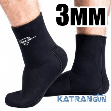 Носки для подводной охоты Marlin Anatomic Duratex, 3 мм