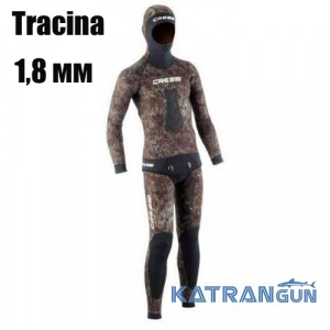 Гідрокостюм для підводного полювання Cressi Sub Tracina 1,8 мм (короткі штани)