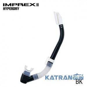 Трубка для підводного плавання Tusa Imprex II Hyperdry black