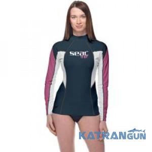 Женская футболка для плавания Seac Sub Raa Evo длинный рукав