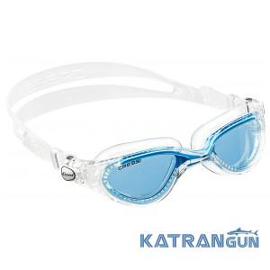 Очки для плавания Cressi Sub Flash; зеркальные стёкла; голубые