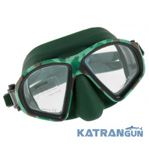 Маска для подводной рыбалки Marlin Matte Green