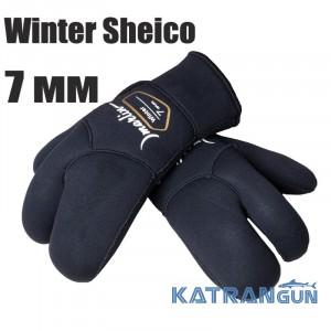 Перчатки трехпалые Marlin Winter Sheico 7 мм