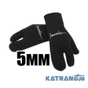 Трипалі рукавиці Marlin Open Cell 5 мм