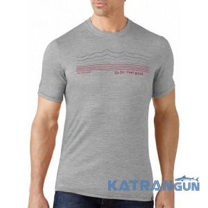 Повсякденна чоловіча футболка Smartwool GT Slim Fit Striped Logo