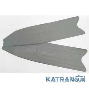 Лопасти для ласт Pelengas Grey, пластиковые, средняя жесткость