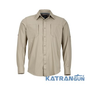 Удобная мужская рубашка Marmot Trient LS, Light Khaki