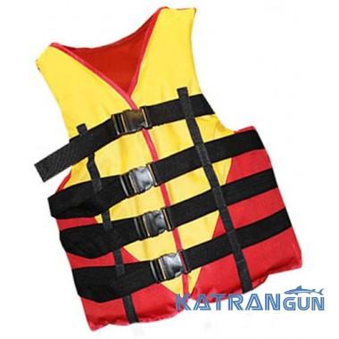 Жилет страховочный спасательный Bark, красно-черный, 70-90 кг