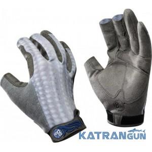 Обновленные рыболовные перчатки BUFF Pro Series Fighting Work II Gloves gray scale