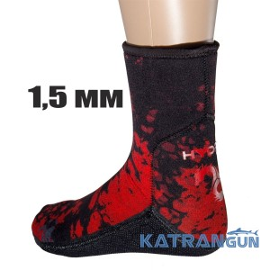 Шкарпетки Hydra SPEARFISHING RED CAMO 1,5 мм
