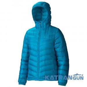 Ультра легкая пуховая куртка Women's Jena Hoody, Aqua Blue