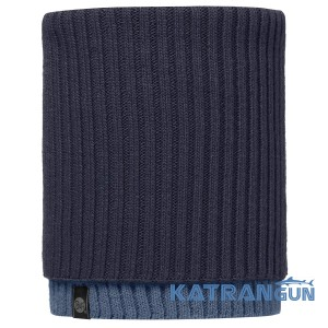 Зручний шарф-труба Buff Knitted Neckwarmer Snud dark navy