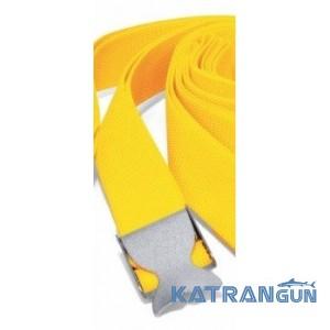 """Вантажний ремінь дайвінгу Best Divers нейлоновий; жовтий; нержавіюча пряжка """"хвіст кита"""""""