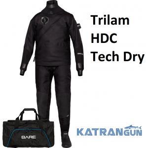 Гидрокостюм сухого типа Bare Trilam HDC Tech Dry