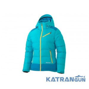 Cпортивный пуховик женский Marmot Women's Sling Shot Jacket 75290, Beluebird/Methyl Blue