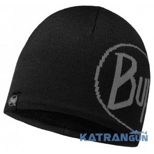 Вязанная мужская шапка для отдыха и спорта BUFF TECH KNITTED HAT TECH LOGO