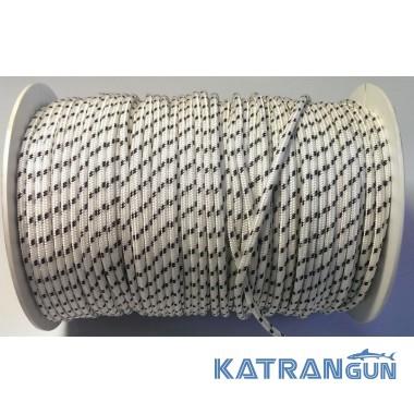 Линь для подводного ружья Salvimar Dyneema 2,5 мм белый в черную полоску