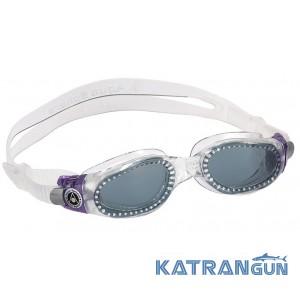 Очки для плавания женские Aqua Sphere Kaiman Lady; прозрачно-фиолетовые; линзы темные