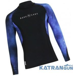 Мужской рашгард для плавания AquaLung Galaxy Blue, длинные рукава