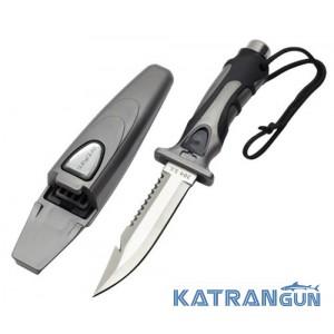 Удобный дайверский нож Scubapro SK-21, Silver Anthracite