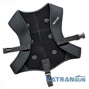 Грузовой жилет для подводной охоты Seac Sub Vest Black Smooth