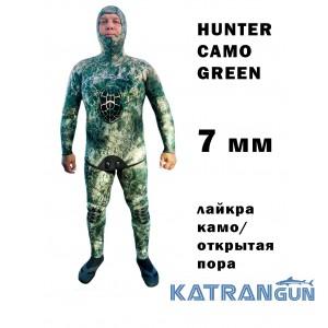 Гидрокостюм для подводной охоты KatranGun Hunter Camo Green 7мм