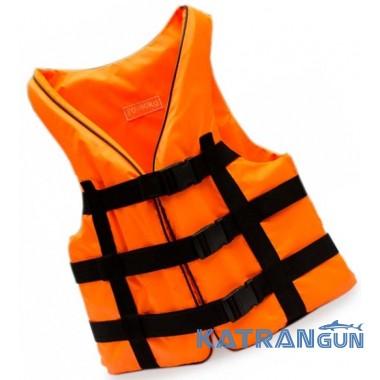 Жилет страховочный спасательный Bark, оранжевый, 90-110 кг