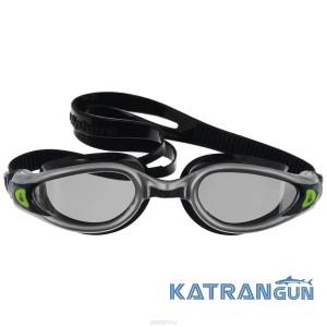 Очки в бассейн Aqua Sphere Kaiman Exo; серебристо-чёрные; зеркальные линзы