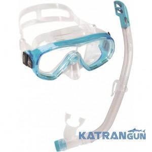 Набір для підводного плавання дитячий Cressi Sub Ondina Vip; аквамарин