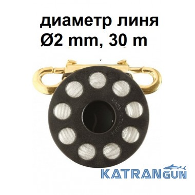 Котушка з карабіном Seac Sub 2 мм 30 м