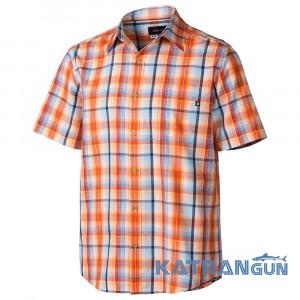 Отличная качественная рубашка Marmot Mens Dobson SS, Red Ochre