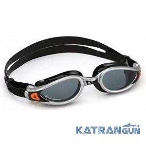 Очки для бассейна Aqua Sphere Kaiman EXO; серебристо-черные, линзы темные