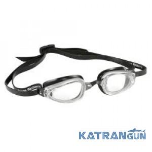 Окуляри для плавання Michael Phelps K180; біло-чорні, салатові лінзи