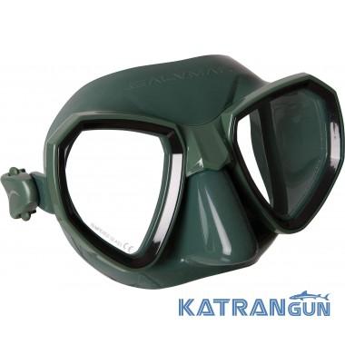 Маска для підводного плавання Salvimar Maxale зелений силікон, чорна рамка