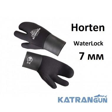 Рукавицы трехпалые для холодной воды Scorpena H Horten WaterLock 7 мм