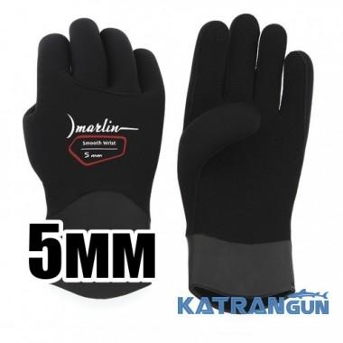 Перчатки неопренові Marlin Smooth Wrist Duratex 5мм