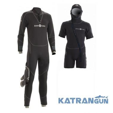 Гидрокостюм мужской для дайвинга Aqua Lung Balance Comfort 7 мм (SET) с капюшоном
