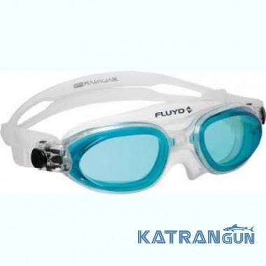 Очки маска для плавания Salvimar Fluyd Linea, голубые